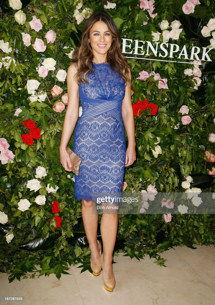 Liz Hurley attends a Queenspark breakfast to celebrate the brand's Summer 2013 collection on November 8, 2013 in Sydney, Australia.
