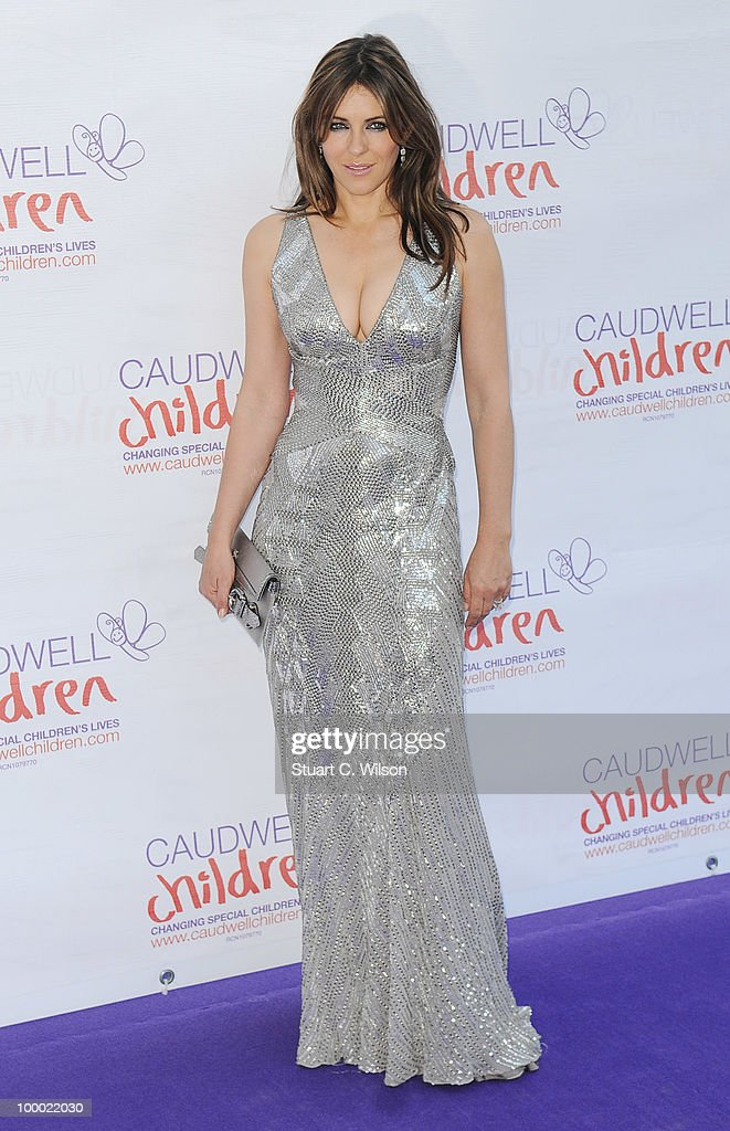 Liz Hurley attends The Caudwell Children Butterfly Ball at Battersea Evolution on May 20, 2010 in London, England.