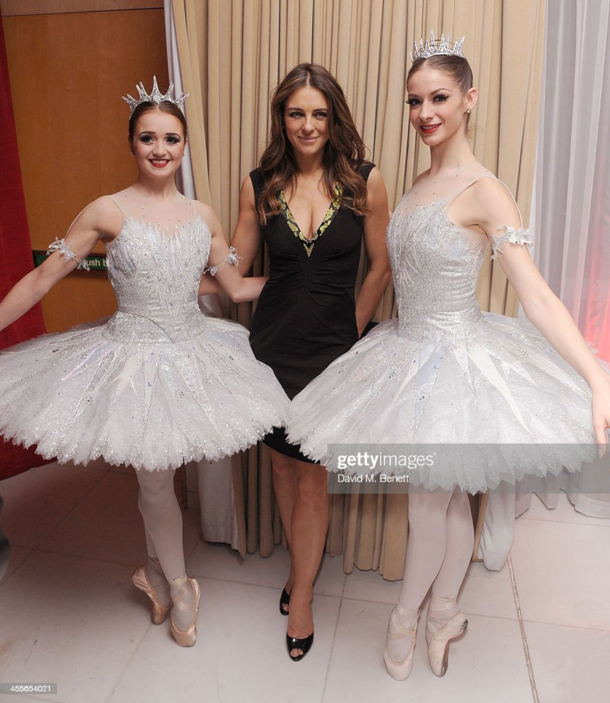 Liz Hurley attends the pre-party for the English National Ballet's The Nutcracker at St Martin's Lane Hotel on December 12, 2013 in London, England.