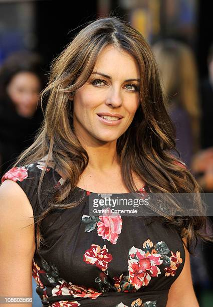 Liz Hurley attends the UK Film Premiere of 'Gnomeo And Juliet' at the Odeon Leicester Square on January 30 2011 in London England