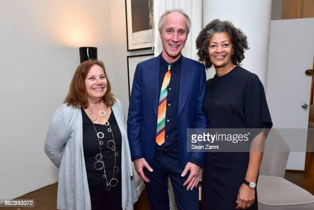 Liz Kellogg Tom Faulkner and Angela Brown attend Tom Faulkner at Angela Brown Ltd on October 18 2017 in New York City