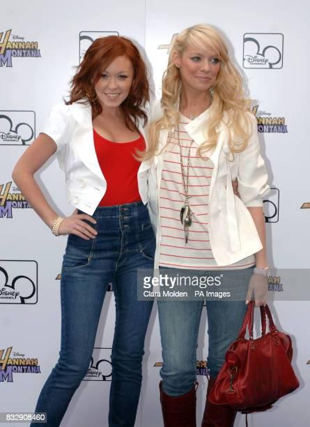 Liz McClarnon and Natasha Hamilton arrive for Disney sensation Hannah Montana's debut UK gig at Koko in Camden north London