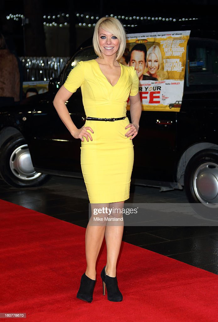 Liz McClarnon attends the UK Premiere of 'Run For Your Wife' at Odeon Leicester Square on February 5, 2013 in London, England.