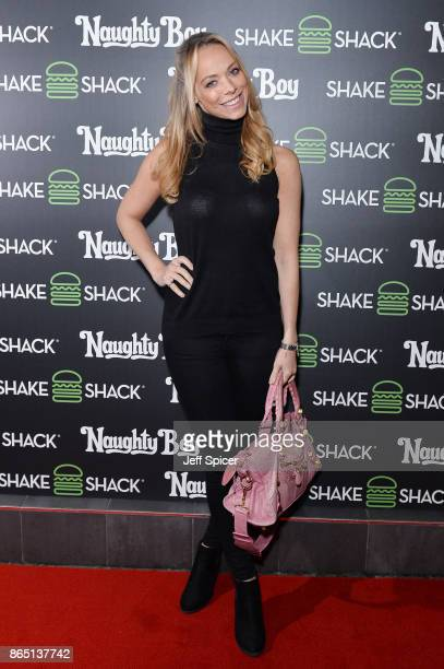 Liz McClarnon during the launch of 'Shack Sounds' at Shake Shack Leicester Square on October 22 2017 in London England