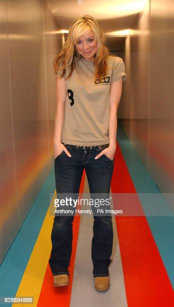 Liz McClarnon from Atomic Kitten during their guest appearance on MTV's TRL UK at the MTV Studios in Camden north London The girls are currently...