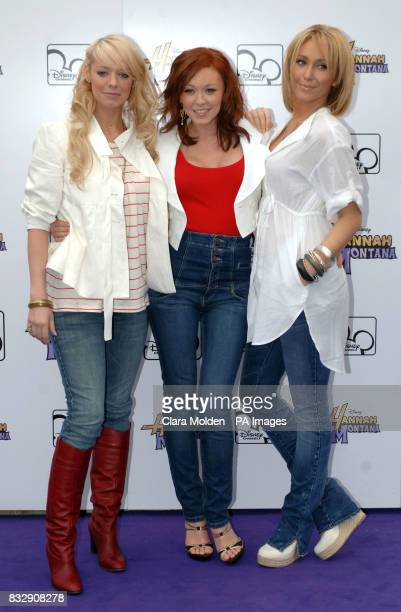 Liz McClarnon Natasha Hamilton and Jenny Frost arrive for Disney sensation Hannah Montana's debut UK gig at Koko in Camden north London