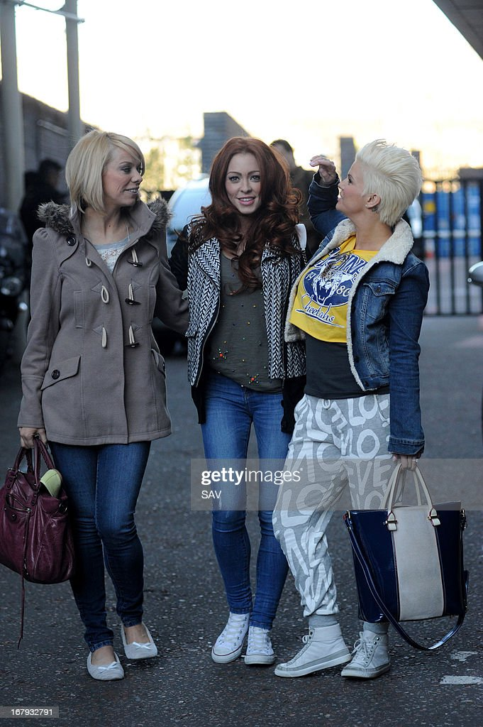 Liz McClarnon, Natasha Hamilton and Kerry Katona of Atomic Kitten pictured at the ITV studios on May 2, 2013 in London, England.