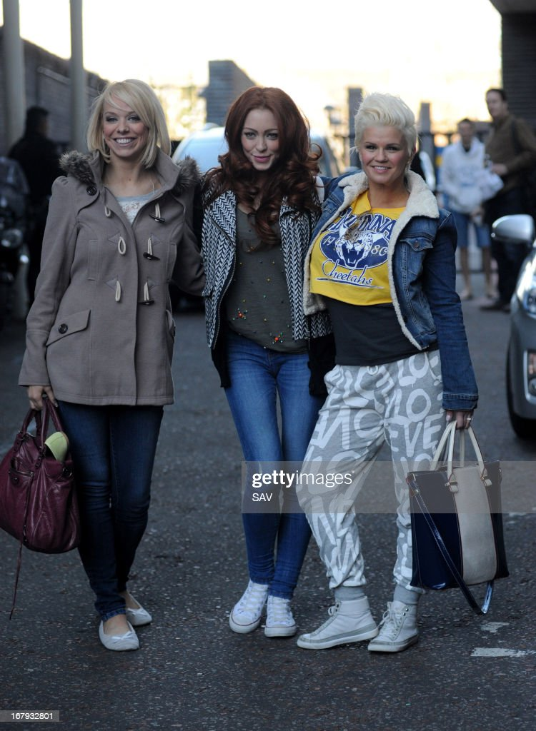 Liz McClarnon, Natasha Hamilton and Kerry Katona of <a gi-track='captionPersonalityLinkClicked' href=/galleries/search?phrase=Atomic+Kitten&family=editorial&specificpeople=157757 ng-click='$event.stopPropagation()'>Atomic Kitten</a> pictured at the ITV studios on May 2, 2013 in London, England.