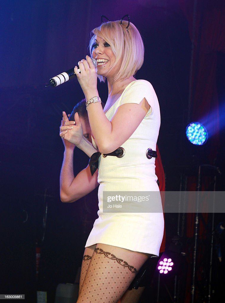 <a gi-track='captionPersonalityLinkClicked' href=/galleries/search?phrase=Liz+McClarnon&family=editorial&specificpeople=207149 ng-click='$event.stopPropagation()'>Liz McClarnon</a> of Atomic Kitten performs on stage at G-A-Y on March 2, 2013 in London, England.