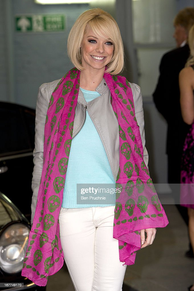 Liz McClarnon sighted departing ITV Studios on April 29, 2013 in London, England.