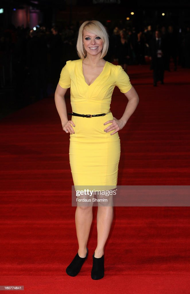 Liz McLarnon attends the UK Premiere of 'Run For Your Wife' at Odeon Leicester Square on February 5 2013 in London England