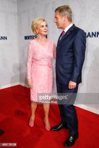 Liz Mohn and Christian Wulff attend the Bertelsmann Summer Party at the Bertelsmann representative office on September 10 2014 in Berlin Germany