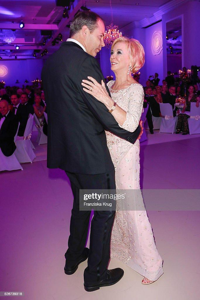 Liz Mohn and Christoph Mohn attend the Rosenball 2016 on April 30 in Berlin, Germany.