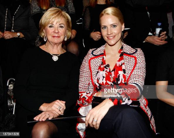 Liz Mohn and Judith Rakers sit in front row at the Rena Lange Autumn/Winter 2012 fashion show during MercedesBenz Fashion Week Berlin at the...