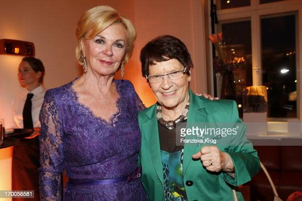 Liz Mohn and Rita Suessmuth attend the Bertelsmann Summer Party at the Bertelsmann representative office on June 6 2013 in Berlin Germany