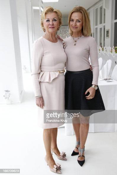 Liz Mohn and Sigrid Streletzki attend the Ladies Lunch at the Ellington Hotel on April 10 2013 in Berlin Germany