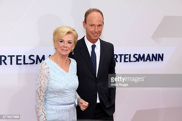 Liz Mohn and Thomas Rabe attend the Bertelsmann Summer Party 2015 at the Bertelsmann representative office on June 18 2015 in Berlin Germany