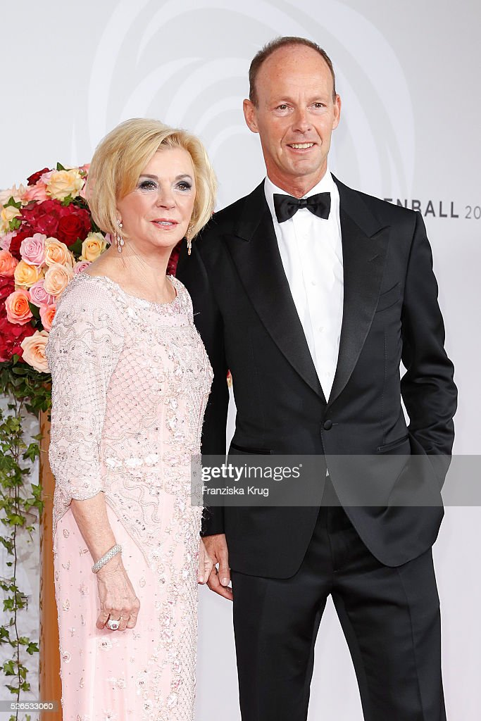 Liz Mohn and Thomas Rabe attend the Rosenball 2016 on April 30 in Berlin, Germany.