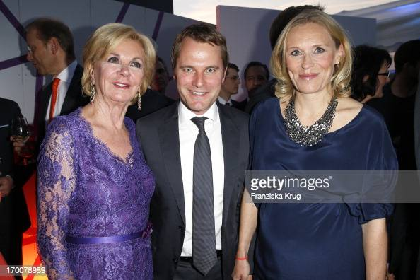 Liz Mohn Daniel Bahr and Judy Witten attend the Bertelsmann Summer Party at the Bertelsmann representative office on June 6 2013 in Berlin Germany