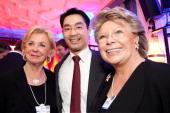 Liz Mohn Economy Minister Philipp Roesler and EU Commissioner Viviane Reding attend the Burda DLD Nightcap 2011 at the Steigenberger Belvedere hotel...