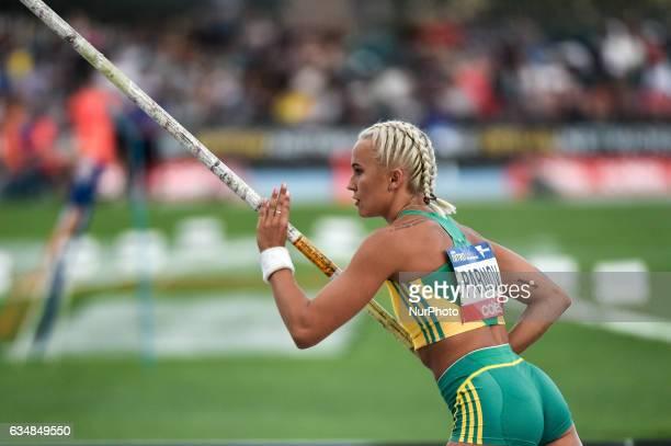 Liz Parnov of Australia prepares to vault in the women's Pole Vault at Nitro Athletics at Lakeside Stadium on February 11 2017 in Melbourne Australia
