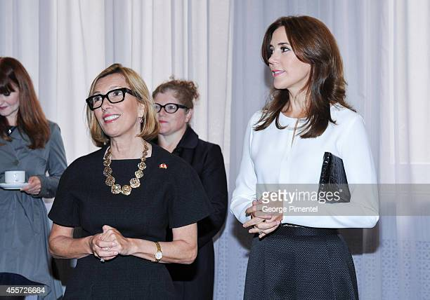 Liz Rodbell President of Hudson's Bay and Crown Princess Mary of Denmark attend official visit to Canada Day 3 at The Hudson's Bay on September 19...