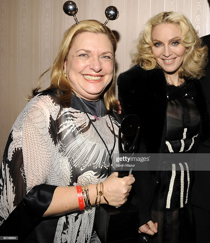 Liz Rosenberg and Musician Madonna backstage at the 23rd Annual Rock and Roll Hall of Fame Induction Ceremony at the Waldorf Astoria on March 10, 2008 in New York City. *EXCLUSIVE*