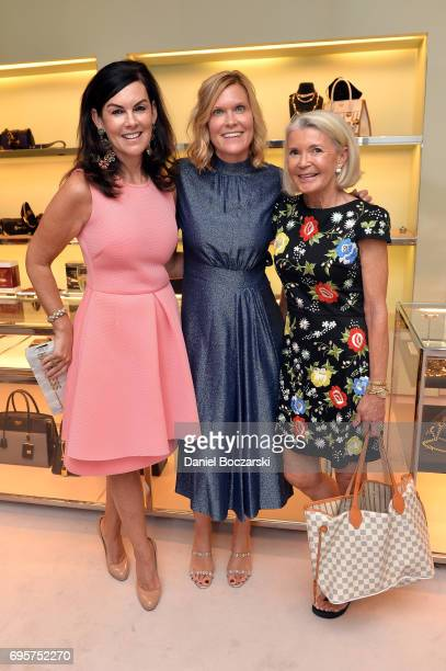 Liz Ryan Karen Riley McEniry and guest attend Prada Chicago x University Of Chicago Cancer Research Foundation Event at Prada Chicago on June 13 2017...