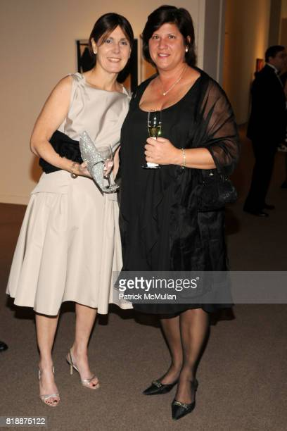 Liz Sandler and Sharon Stamp attend ALZHEIMER'S DRUG DISCOVERY FOUNDATION Presents The Fourth Annual Connoisseur's Dinner at Sotheby's on April 29...