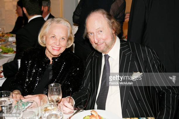 Liz Smith and Ed Victor attend MARTHA STEWART Center for Living at Mt Sinai 2nd Annual Gala at Martha Stewart Headquarters on November 10 2009 in New...
