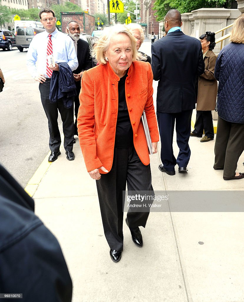 Liz Smith attends funeral services for entertainer Lena Horne at St. Ignatius Loyola Church on May 14, 2010 in New York City.