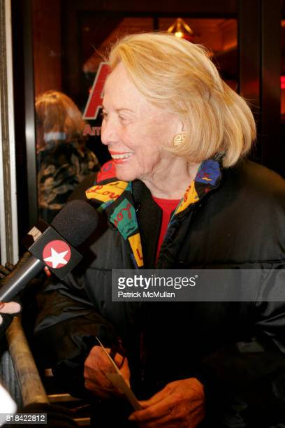 Liz Smith attends Opening Night of Present Laughter at American Airlines Theater on January 21 2010 in New York City