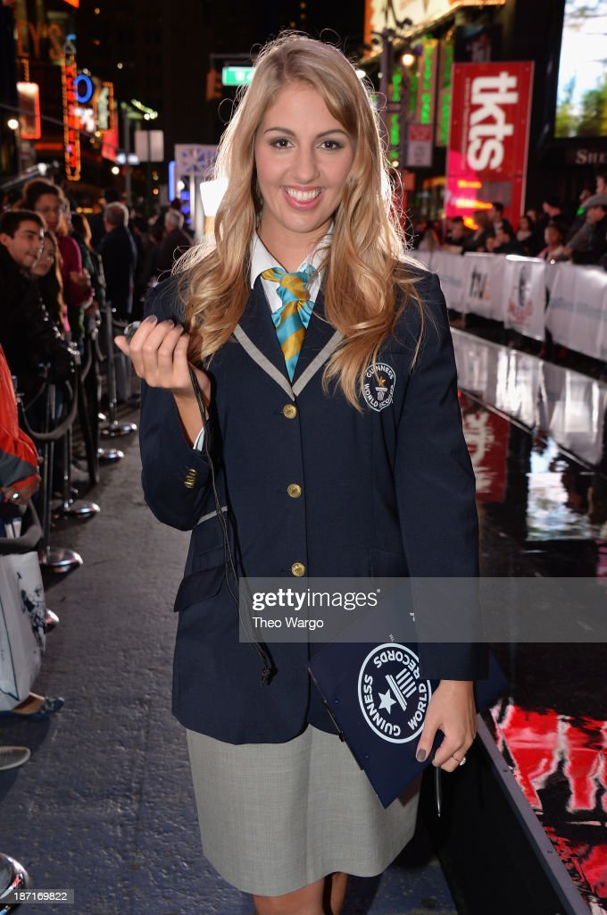 Liz Smith poses at the Guinness World Records Unleashed Arena in Times Square on November 6, 2013 in New York City. (Photo by Theo Wargo/WireImage) 24244_003_TW_0232.JPG