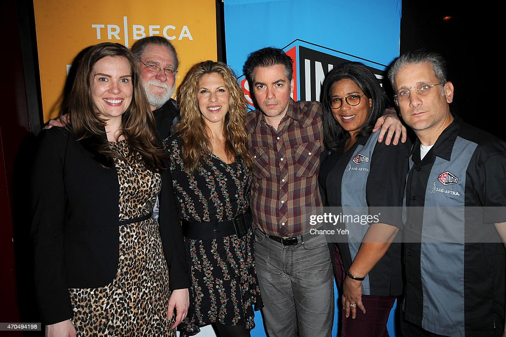Liz Spaulding Richard Masur Abby Dylan Kevin Corrigan Darrien Michele Gipson and Michael Sladek attend the SAG Indie Cast Party during the 2015...