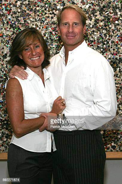 Liz Swig and Kent Swig attend Kent and Liz Swig Host a Dinner In Honor of Artist Gary Hume at Kent and Liz Swig Duplex on September 22 2005 in New...