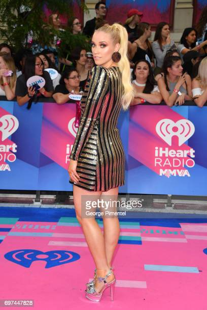 Liz Trinnear arrives at the 2017 iHeartRADIO MuchMusic Video Awards at MuchMusic HQ on June 18 2017 in Toronto Canada