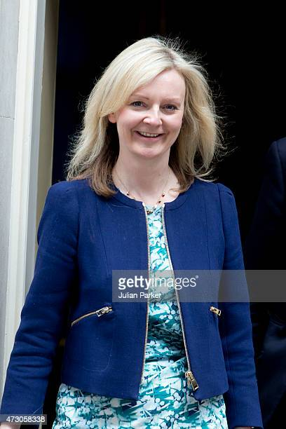 Liz Truss Secretary of State for environment food rural affairs attends the first Conservative Cabinet meeting of The new Government at 10 Downing...