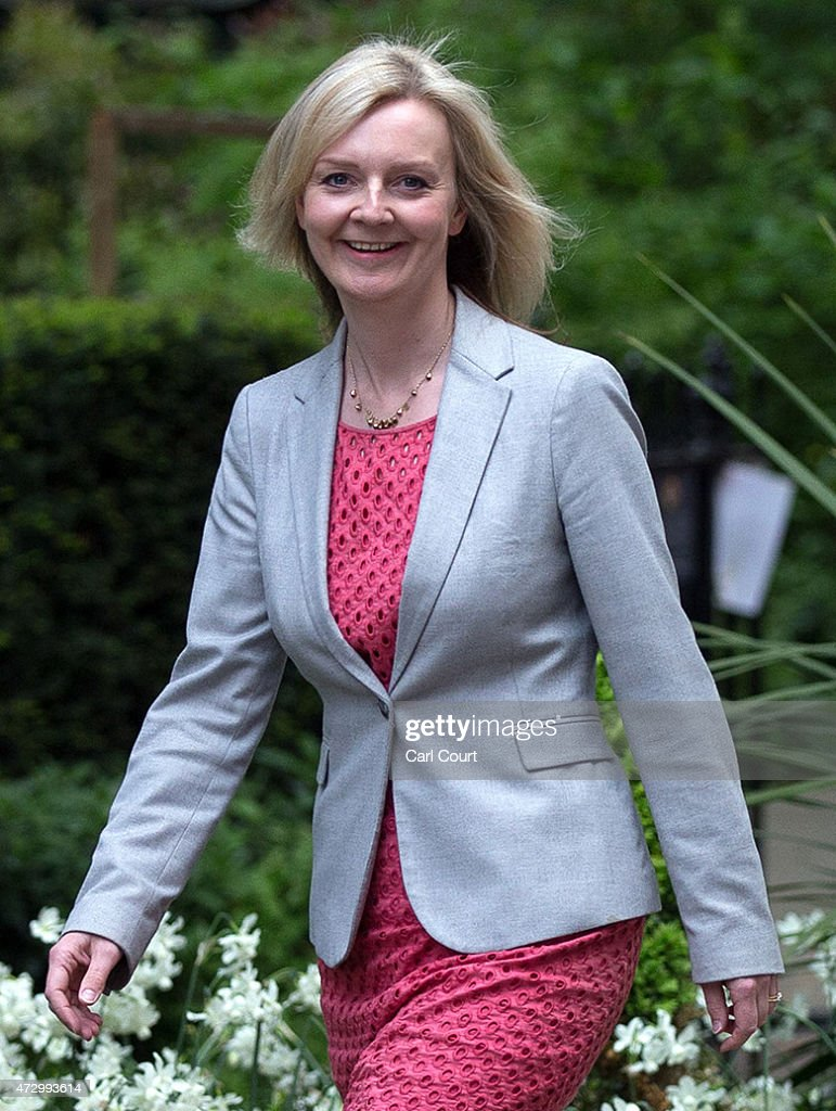 Liz Truss, the Secretary of State for Environment, Food and Rural Affairs, arrives at Downing Street on May 11, 2015 in London, England. Prime Minister David Cameron continued to announce his new cabinet with many ministers keeping their old positions.