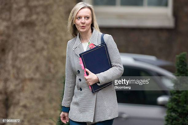 Liz Truss UK justice secretary arrives for the weekly cabinet meeting at 10 Downing Street in London UK on Tuesday Nov 1 2016 Japan warned UK Prime...