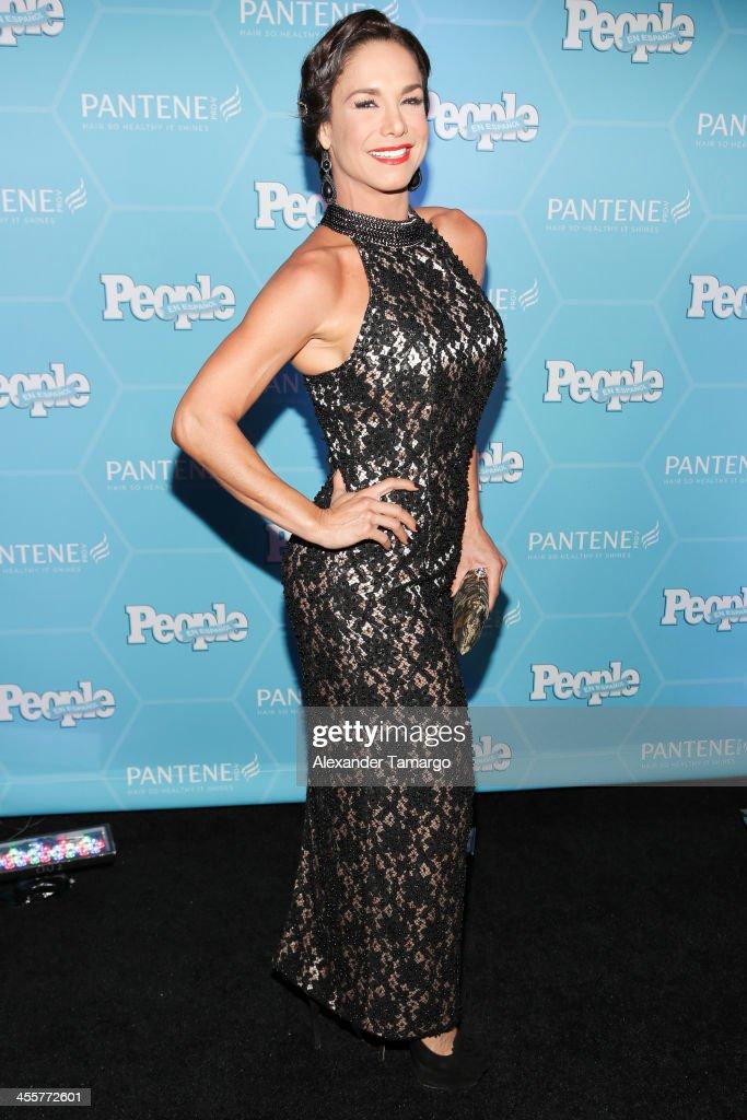 Liz Vega arrives at the Estrellas Del Ano De People En Espanol party at The James Royal Palm Hotel on December 12, 2013 in Miami, Florida.