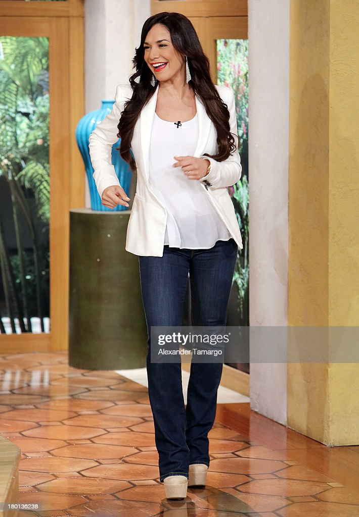 Liz Vega is seen on the set of Telemundo's 'Un Nuevo Dia' at Telemundo Studio on September 9, 2013 in Miami, Florida.