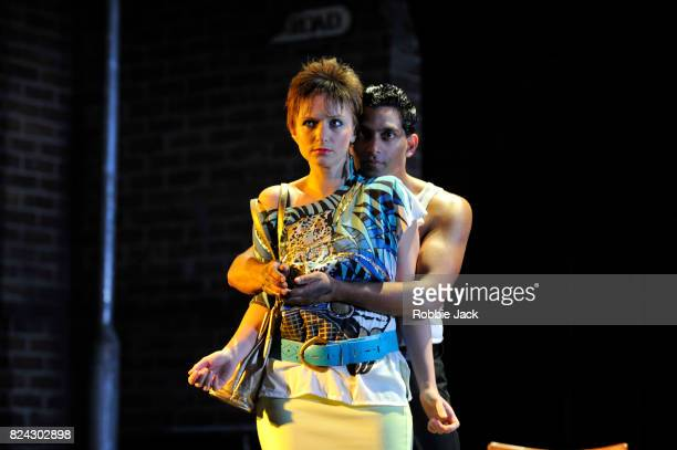 Liz White and Shane Zaza in Jim Cartwright's Road directed by John Tiffany at the Royal Court Theatre on July 26 2017 in London England