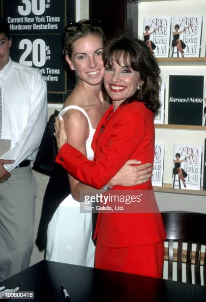 Liza Huber and Susan Lucci during Susan Lucci Book Signing 'Erica Kane Having It All' at Rockefeller Center in New York City New York United States