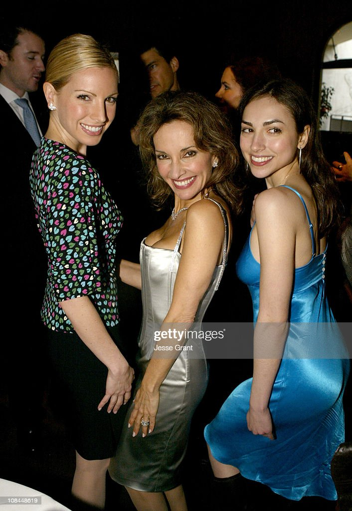 Liza Huber Susan Lucci and Eden Riegel during Susan Lucci Honored with a Star on the Hollywood Walk of Fame After Party at Brasserie Vert in...