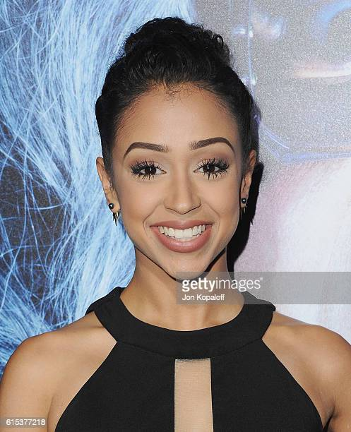 Liza Koshy arrives at the Los Angeles Premiere 'Boo A Madea Halloween' at ArcLight Cinemas Cinerama Dome on October 17 2016 in Hollywood California
