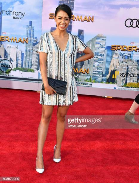 Liza Koshy arrives at the Premiere Of Columbia Pictures' 'SpiderMan Homecoming' at TCL Chinese Theatre on June 28 2017 in Hollywood California