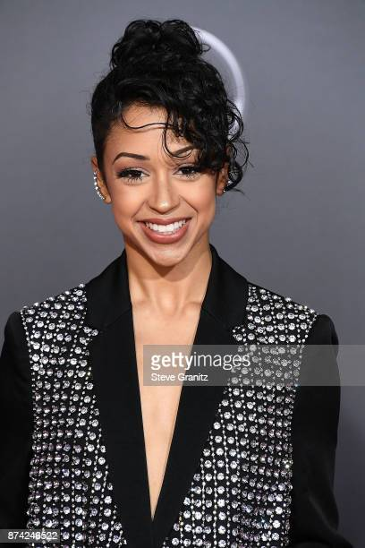 Liza Koshy arrives at the Premiere Of Warner Bros Pictures' 'Justice League' at Dolby Theatre on November 13 2017 in Hollywood California
