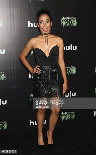 Liza Koshy attends the Premiere Of Hulu's 'Freakish' Arrivals at Smogshoppe on October 5 2016 in Los Angeles California