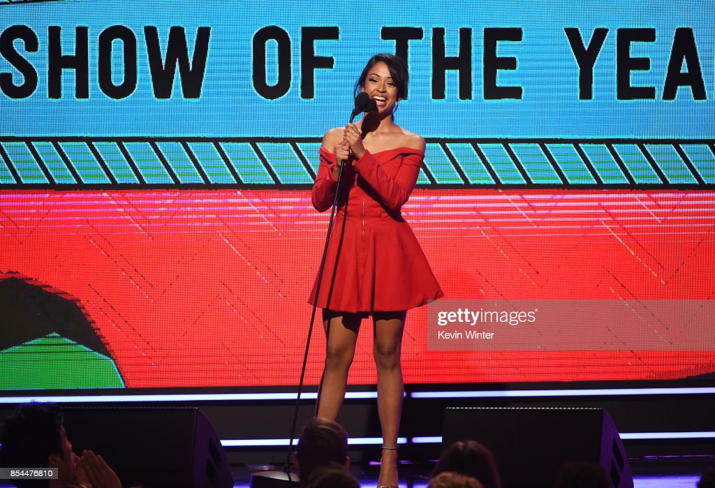 Liza Koshy onstage during the 2017 Streamy Awards at The Beverly Hilton Hotel on September 26, 2017 in Beverly Hills, California.