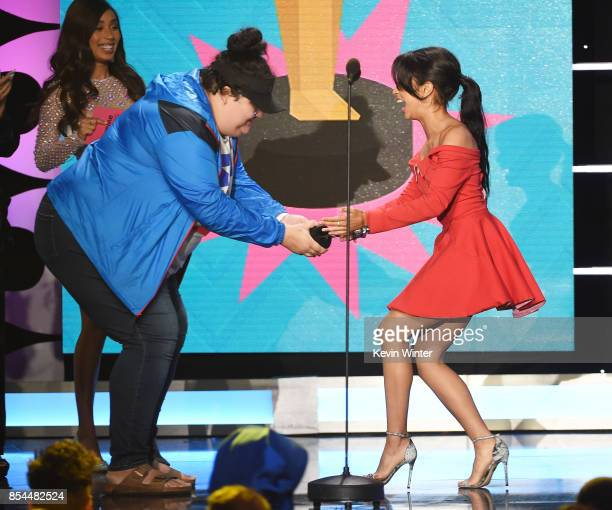 Liza Koshy onstage during the 2017 Streamy Awards at The Beverly Hilton Hotel on September 26 2017 in Beverly Hills California